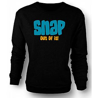 Mens Sweatshirt Moonstruck Snap Out Of It - Funny