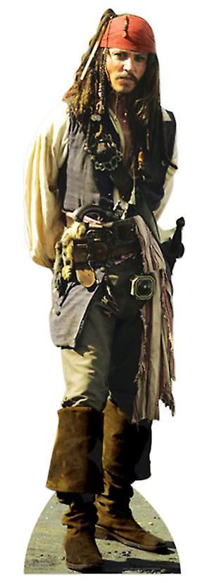 Captain Jack Sparrow Lifesize Karton Ausschnitt / f - Johnny Depp / Piraten der Karibik