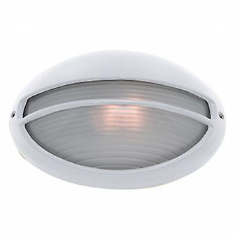 Searchlight 5544WH Oval White Outdoor Wall Light IP54