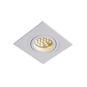 Lucide buis moderne vierkante aluminium wit inbouw Spot Light