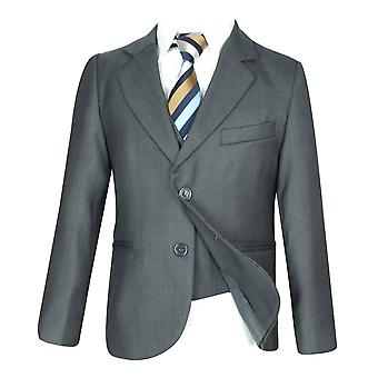 Boys 5 PC All in One Regular Fit Light Grey Boys Suit