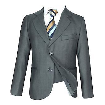 Drenge 5 PC alt i en regelmæssig passer lys grå drenge jakkesæt