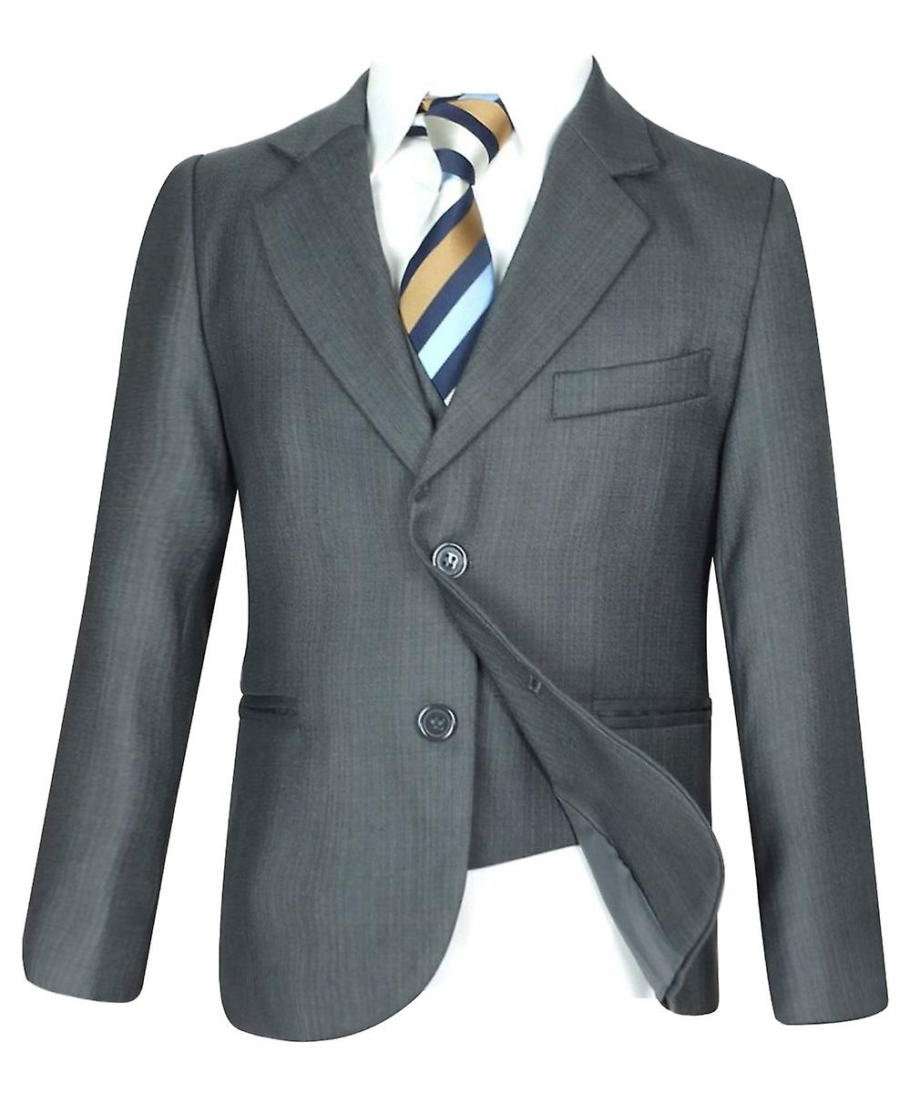 garçons 5 PC All in One Regular Fit lumière gris garçons Suit