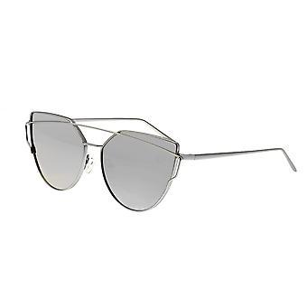 Bertha Aria Polarized Sunglasses - Silver/Silver