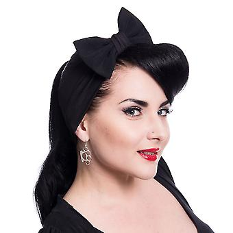 Rockabella Black Bowed Headband