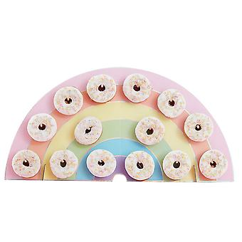 Pastel Party Rainbow Donut Wall Party Decoration for Doughnuts