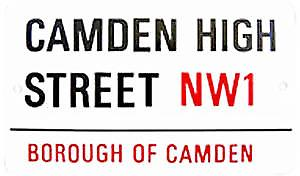 Camden High St. medium sized enamel sign
