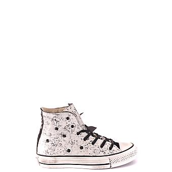 Converse White Leather Hi Top Sneakers