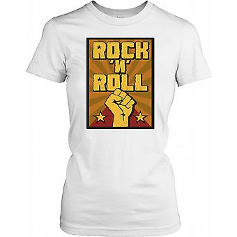 Rock n Roll Fist - Support Your Band Ladies T Shirt