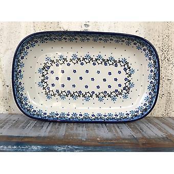 Bolle / plate, 26 x 16 x 3 cm, Fleur delikat - BSN J-4629