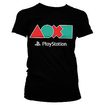 Women's PlayStation Button Icons T-Shirt
