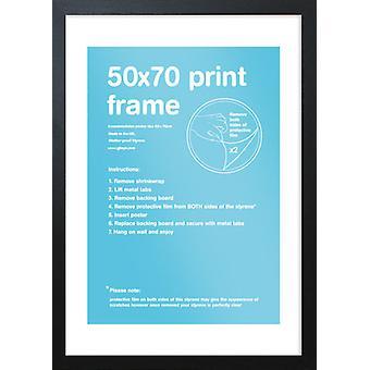 Eton zwart Frame 50x70cm Poster / Frame afdrukken
