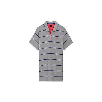 Gant 3-col Pique Polo Shirt Rugger Grey Melange