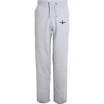 Parachute Regiment Grey Wings - Licensed British Army Embroidered Open Hem Sweatpants / Jogging Bottoms