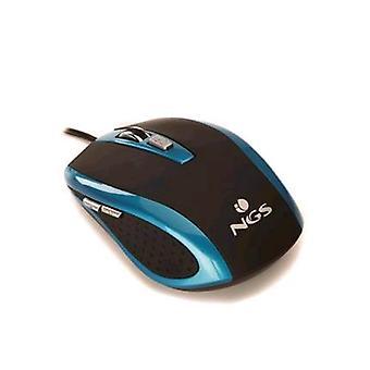 Ngs bluetick usb optical mouse 800-1,600 dpi 6 keys black blue