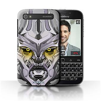 STUFF4 Case/Cover for Blackberry Classic/Q20/Mega-Bot Yellow/Robots