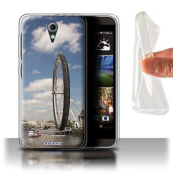 STUFF4 Gel/TPU Case/Cover für HTC Desire 820 Mini/London Eye/vorstellen, es