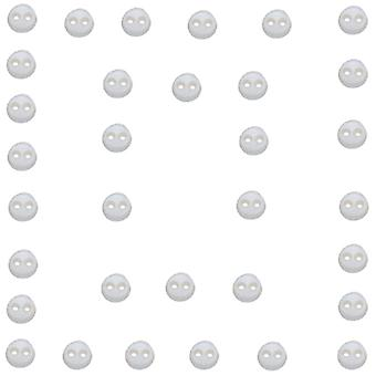 Dress It Up Embellishments Micro Mini Rounds White Diubtn 4707