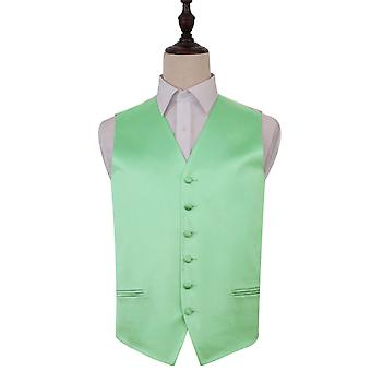Plain Mint Green Satin Wedding Waistcoat