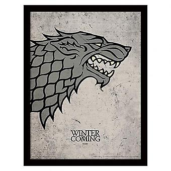 Game Of Thrones indrammet Print Stark 16 x 12
