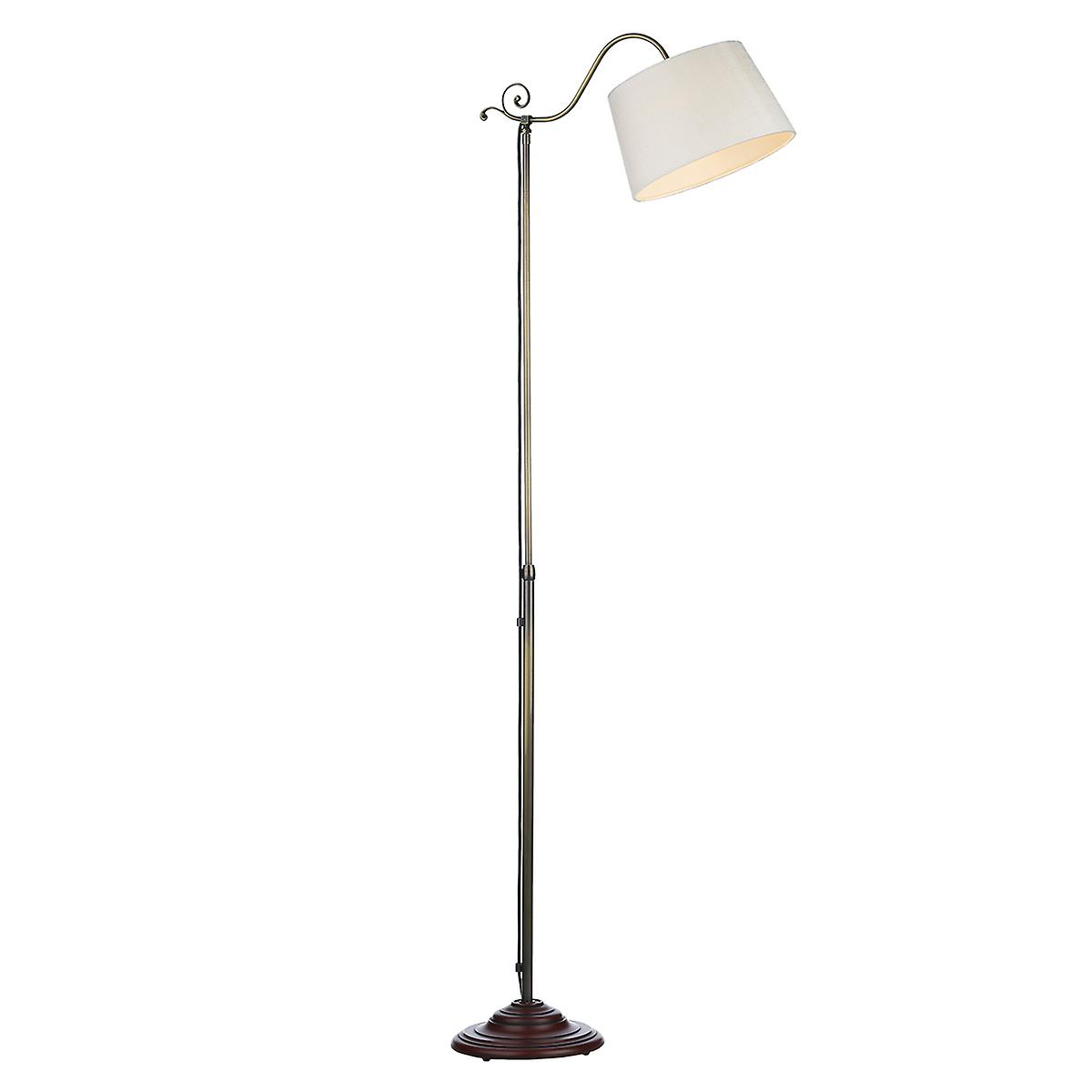 David Hunt ZA10AB Campden Floor Lamp In A Antique Brass Finish - Shade Sold Separately