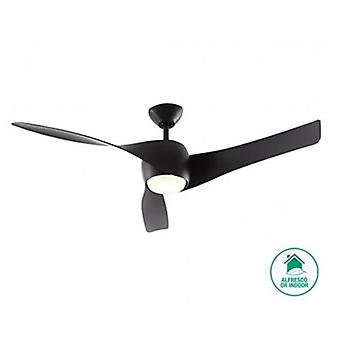 "Ceiling Fan Artemis Black 147 cm / 58"" with lighting"