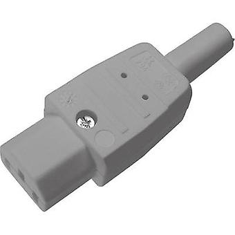 IEC connector C13 ATT.LOV.SERIES_POWERCONNECTORS 794 Socket, straight Total number of pins: 2 + PE 10 A Grey Kaiser 1 p