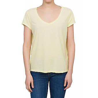 Lee ultimate V-neck tee women's T-Shirt yellow L42APACB