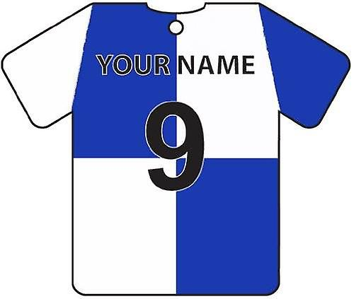 Personalised Bristol Rovers Football Shirt Car Air Freshener