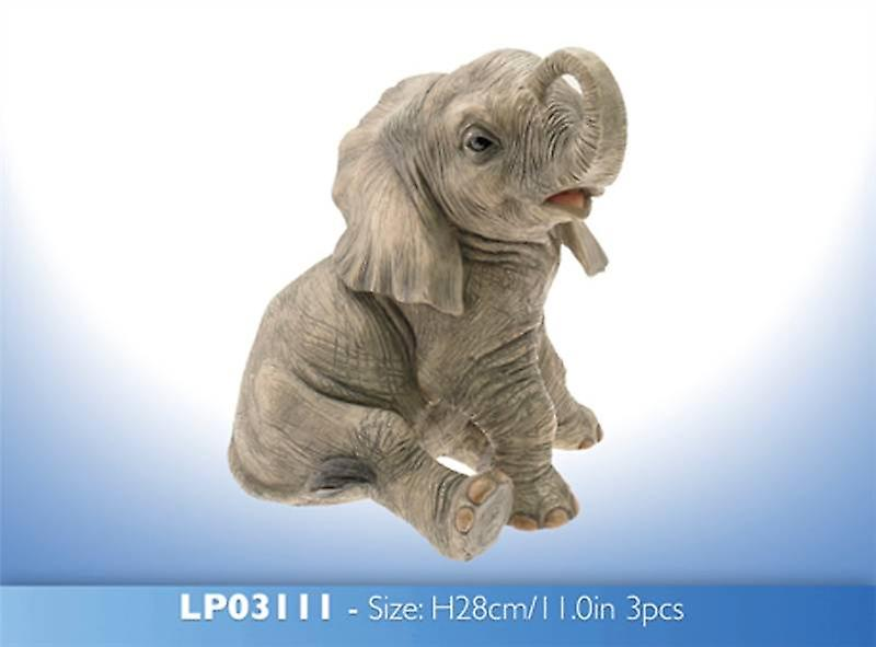 Sitting Baby Elephant Ornament