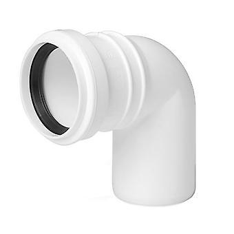 Avlopp armbåge Connector gemensamma 50mm röret Diameter 90deg monteringsvinkeln
