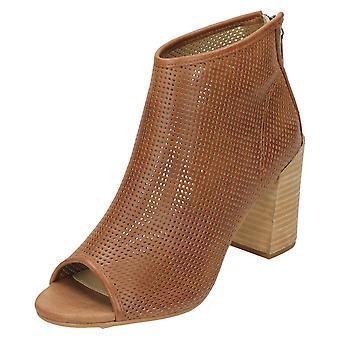 Damer Savannah perforeret Peep Toe ankelstøvler F10598