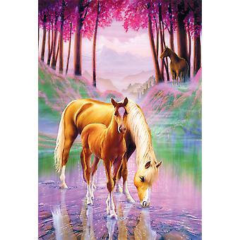 Hest og føl plakat Print af Andrew Farley