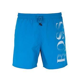 BOSS Octopus Bright Blue Colour Block Swim Shorts