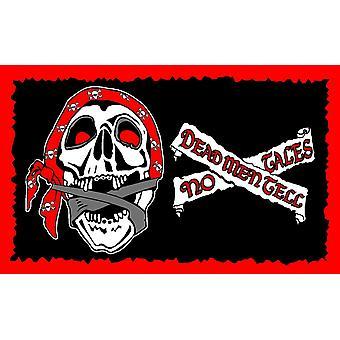 5 ft x 3 ft Flagg - Pirate - Dead men fortelle noen historier