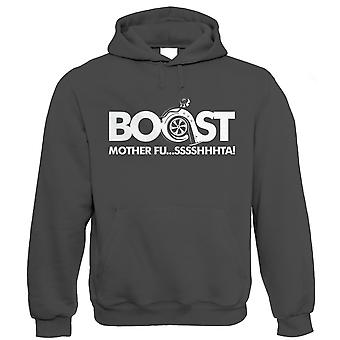 Boost Mother Fussshhhta Mens Car Hoodie - Turbo Racing JDM Rally Motorsport