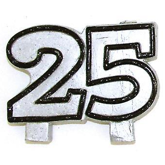 Zahlenkerze 25 Silber Hochzeit Deko Silberhochzeit