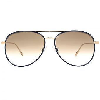 Jimmy Choo Reto Pilot Sunglasses In Blue Gold