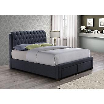 Birlea 135cm Valentino 2 Drawer Bed Charcoal