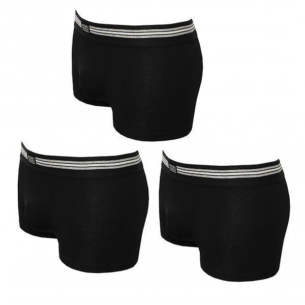 Jockey 3-pakning bomull strekk Boxer badebukser, svart