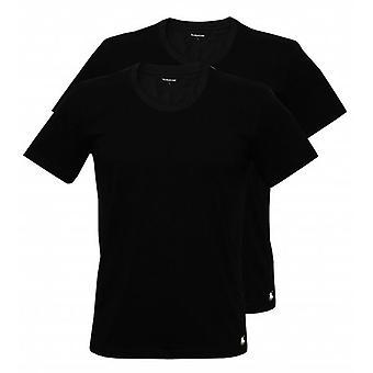 Polo Ralph Lauren klassiek katoen 2-Pack bemanning-hals T-Shirts, zwart