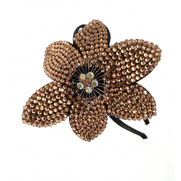 W.A.T goud Crystal bloem Hairband
