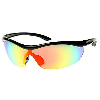 TR90 Durable inastillable media chaqueta escudo de deportes gafas de sol