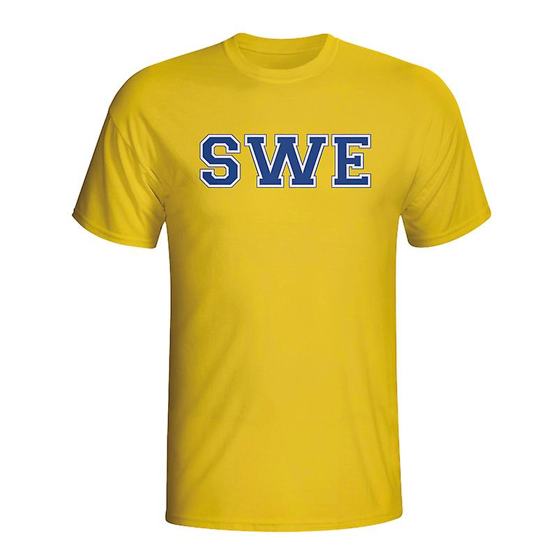 Sweden Country Iso T-shirt (yellow)
