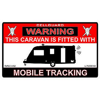 W4 Security Tracking Fitted Caravan Sticker