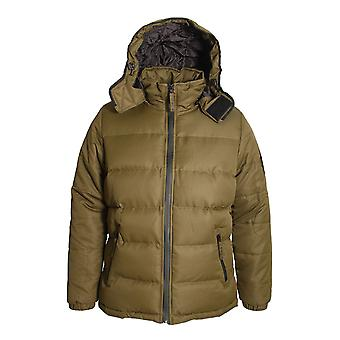 BELLFIELD Ludlow Hooded Puffa Jacket | Khaki