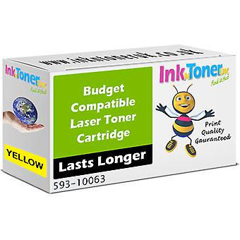 Kompatibel Dell K4974 gule høj kapacitet tonerpatron (593-10063)