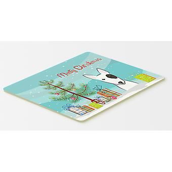 Christmas Tree and Bull Terrier Kitchen or Bath Mat 20x30