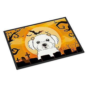 Carolines Treasures  BB1766JMAT Halloween Maltese Indoor or Outdoor Mat 24x36