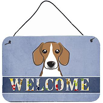 Carolines Treasures  BB1425DS812 Beagle Welcome Wall or Door Hanging Prints